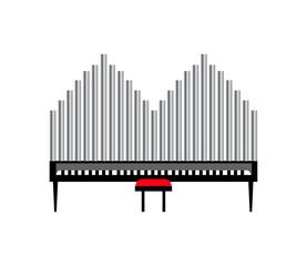 organs instrument on white background