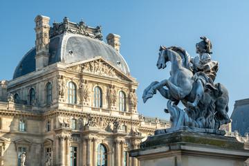 Foto op Plexiglas Centraal Europa Louvre Museum in Paris, Frankreich