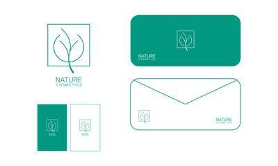 Nature cosmetics modern logo design