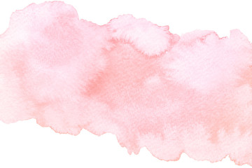 Watercolor artistic abstract pink brush stroke isolated on white background Fotoväggar