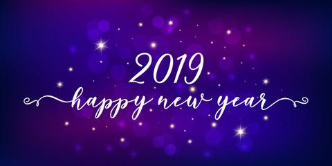 Festive 2019 happy new year background.