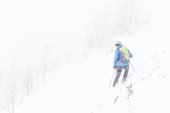 Skitourengeher auf der Reiteralm, Niedere Tauern, Steiermark, Österreich.