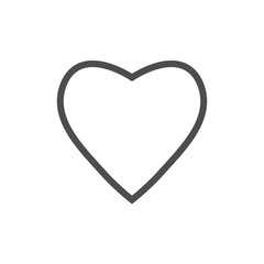 Heart icon love symbol. Vector illustration, flat design.