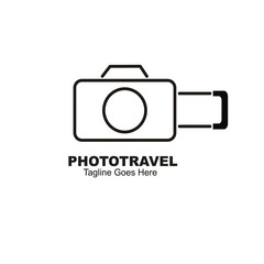 Photo travel logo design.