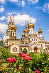 Foto op Aluminium Kiev Orthodox Cathedral of the Holy Trinity in Donetsk