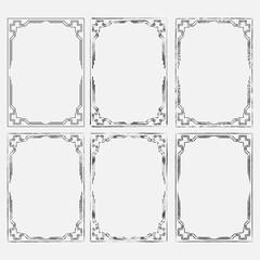 set frame image, decorative ornamental frame, abstract frame