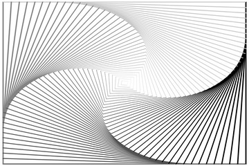 Abstract Black and White Pattern with Stairs. Spiral Textured Tunnel. Raster. 3D Illustration