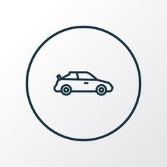 Sports auto icon line symbol. Premium quality isolated crossover element in trendy style.