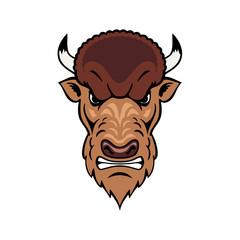 bison head graphic element