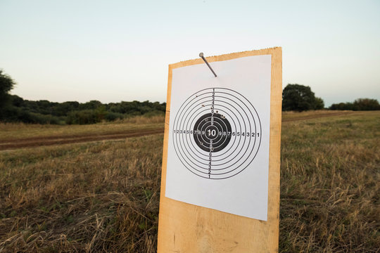 target for shooting outdoors
