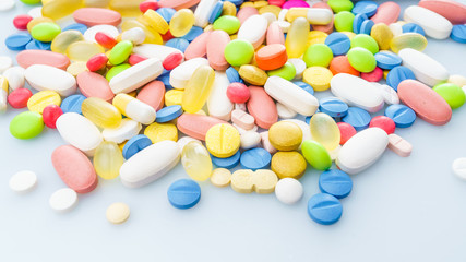 Different medicines. medications drugs
