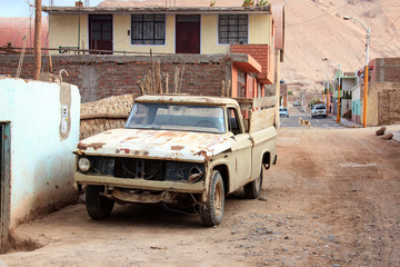Peruvian car through the streets of Peru