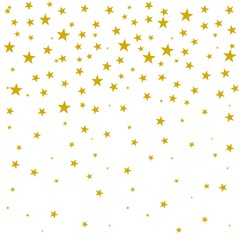 Stars background, gold yellow color