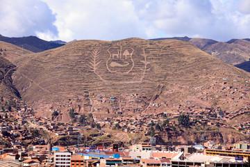 La città di Lima in Perù. Case strade e macchine