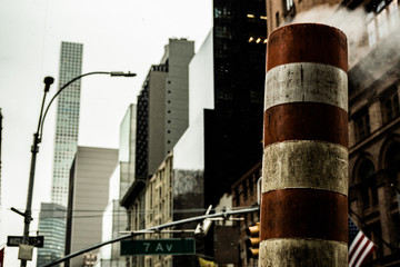 smoke stack in the city