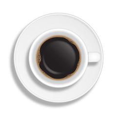 Tazzina di caffè con piattino
