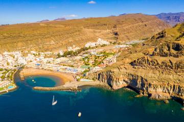 Puerto de Mogan town on the coast of Gran Canaria island, Spain.