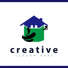 home abstract logo vector