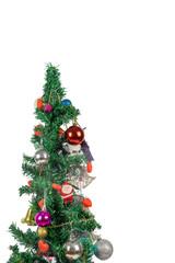 Beautiful christmas tree isolated on a white background - Image