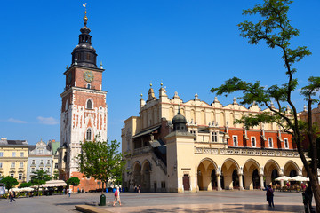 Town Hall Tower and Cloth Hall in Krakow, the unofficial cultural capital of Poland, was named the official European Capital of Culture for the year 2000