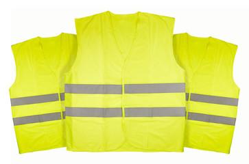 Yellow vest isolated