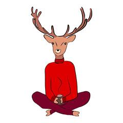 A deer in a sweater