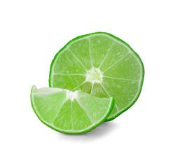 lime isolated on white background - Image