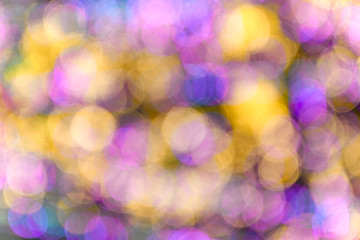 Blurred lighting bokeh background.