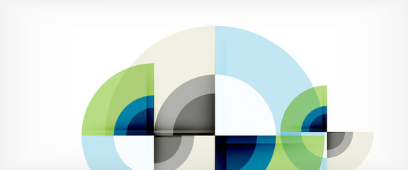 Multicolored round shapes abstract background
