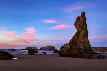 Fotobehang Algerije Bandon Beach at dusk