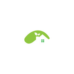 Green Eco House Logo Real Estate design vector template