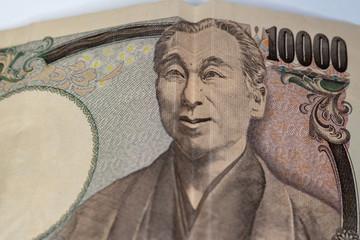 笑う福沢諭吉(10000円)