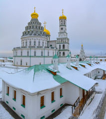 Resurrection new Jerusalem Stavropol monastery on the river Istra in the Moscow region.