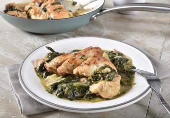 Homemade chicken florentine