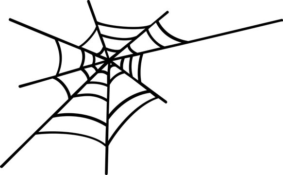 Vector logo spider web in Halloween on the White Blackground