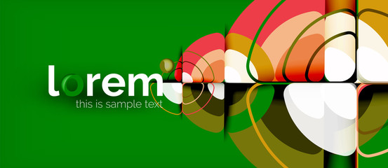 Circles and triangles design abstract background