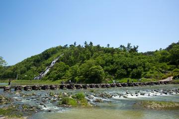Nonggyo Bridge of Jincheon is an old stone bridge in Korea.