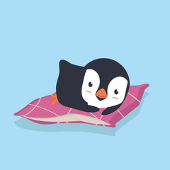 penguinl Sleeping with Pillow