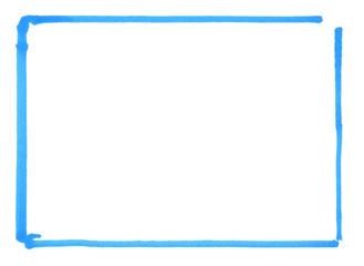 Kasten als Rahmen mit blauer Farbe