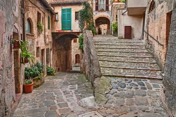 picturesque corner in Sorano, Grosseto, Tuscany, Italy