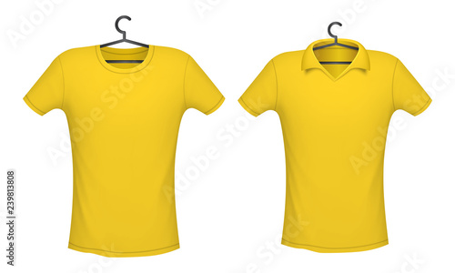 754a0c0c8 T-shirt and Polo yellow color, vector illustration