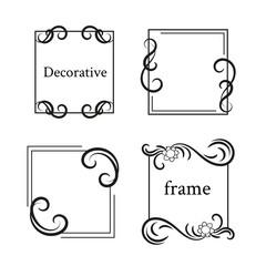 Set of vintage frames with scrolls element.
