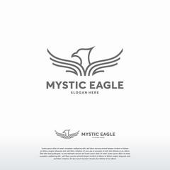 Luxury Eagle logo designs vector, Falcon Phoenix Hawk bird Logo Symbol icon template