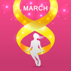 Happy International Women's Day on March 8th design background- EPS10 vector.