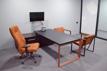 Office furniture in the interior