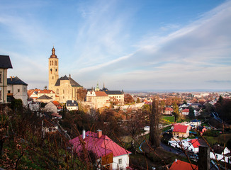 Kutna Hora Town and St. Barbaras Church in Autumn The Czech Republic