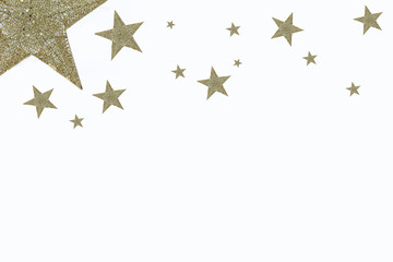 Holiday background, seamless pattern with stars. - Image