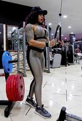 Egyptian bodybuilder champion Dina Abdel-Maksoud, 21, trains at a gym in Port Said city