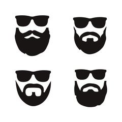 Hipster beard icons
