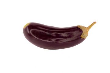Purple eggplant without background.